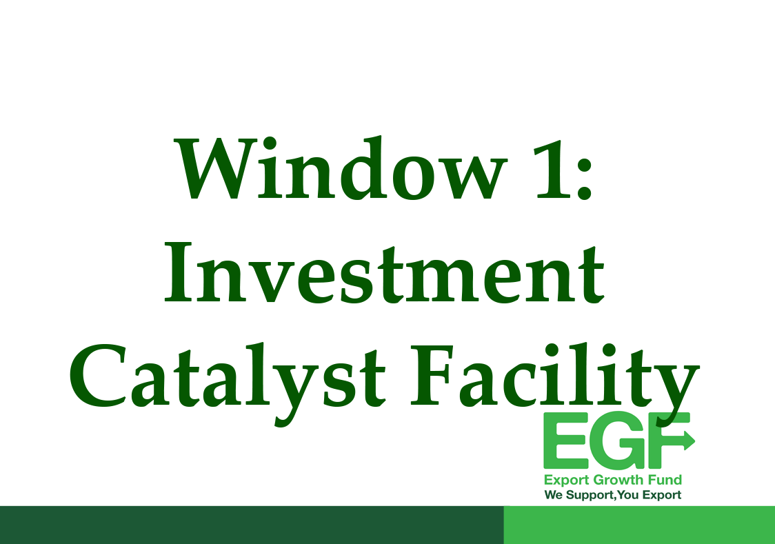 EGF WINDOW 1 -Investment Catalyst Facility