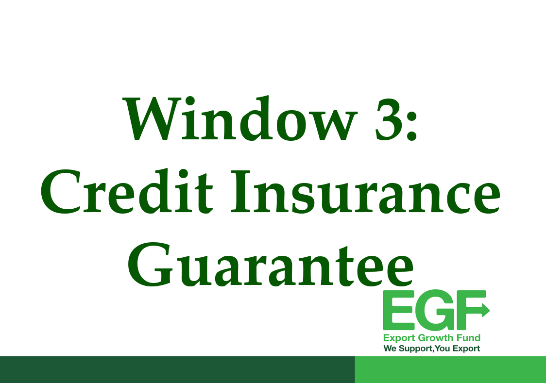 EGF WINDOW 3 – Export Credit Insurance Guarantee Facility